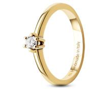 Ring aus 585 Gold mit 0.15 Karat Diamant-54