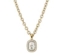 Halskette Dolla aus vergoldetem Edelstahl mit Swarovski-Steinen