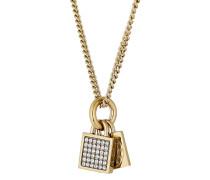 Halskette Satile vergoldet mit Swarovski-Steinen