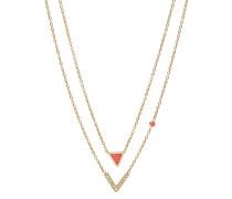 Halskette Fashion aus Edelstahl mit Koralle