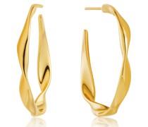 Creole Twist Hoop Earrings 925er Silber