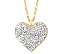 Halskette vergoldet mit Swarovski-Steinen