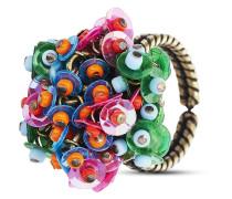 Ring Kaleidoscopic aus Messing