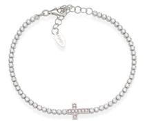 D-Armband 925er Silber 10 Zirkonia