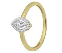 Ring aus 375 Gold mit 0.16 Karat Diamanten-52