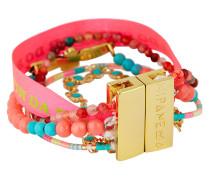 Armband Minipeace aus Kunstperlen & Stoff