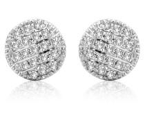 Ohrstecker aus 375 Weißgold mit 0.114 Karat Diamanten