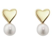 Ohrstecker Pearl Love aus vergoldetem 925 Sterling Silber mit Süßwasser-Zuchtperlen