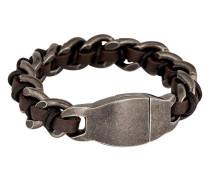 Armband Shock aus Edelstahl & Leder