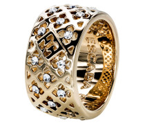 Ring vergoldet mit Swarovski-Steinen-56