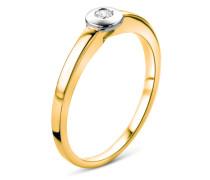 Ring aus 375 Bicolor-Gold mit 0.05 Karat Diamant-50