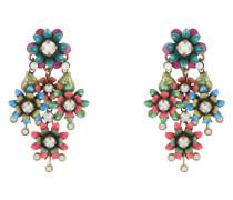 Ohrhänger Mille Fleurs aus Metall mit Glassteinen