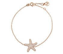 Armband Chain aus rosévergoldetem 925 Sterling Silber mit Zirkonia