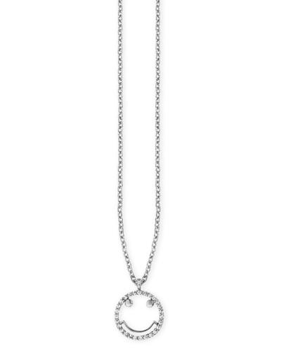 Halskette Smileys aus 925 Sterling Silber mit Zirkonia