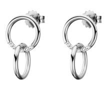Ohrhänger Linked In aus 925 Sterling Silber mit Topasen