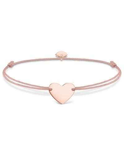 Armband Little Secrets aus rosévergoldetem 925 Sterling Silber & Nylon