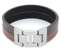 Armband Fashion Men aus Leder & Edelstahl