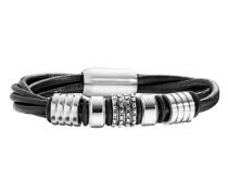 Armband Element aus Leder & Edelstahl