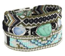 Armband Hampton aus Metall, Kunststoff & Stoff