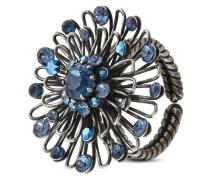 Ring Distel aus Metall mit Glassteinen