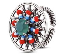 Ring Dream Catcher aus Metall mit Glassteinen