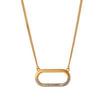 Halskette aus vergoldetem 925 Sterling Silber mit Kristallen