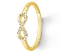 Ring aus vergoldetem 925 Sterling Silber mit Zirkonia
