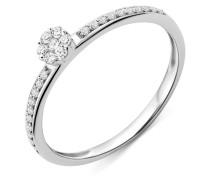 Ring aus 375 Weißgold mit 0.15 Karat Diamanten-56