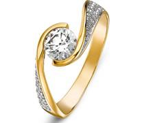 Damenring aus 333 Gelbgold