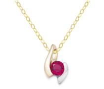Halskette aus 375 Bicolor-Gold
