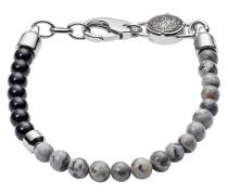 Armband Stackables aus Edelstahl mit Jaspissen & Onyxen