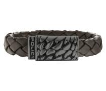 Armband Alligator aus Leder & Edelstahl