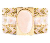 Armband Alizee aus vergoldetem Zink, Stoff & Kunststoff-180 mm