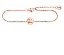 Armband Smileys aus rosévergoldetem 925 Sterling Silber mit Zirkonia