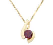 Halskette aus 375 Gold mit Granat