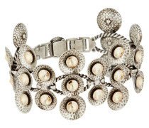 Armband Rivoli Concave aus Metall mit Glassteinen