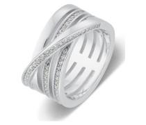 Ring aus Sterling Silber mit 67 Zirkonia