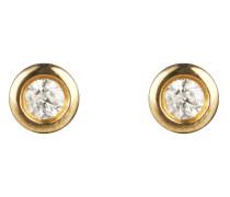 Ohrstecker aus 375 Gold mit 0.1 Karat Diamanten