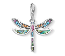 Charm aus 925 Sterling Silber & Abalone mit Zirkonia