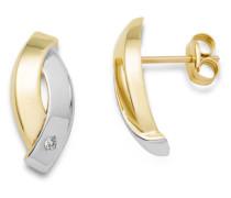 Ohrstecker aus 375 Bicolor-Gold mit Diamanten