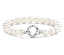 Armband aus 925 Sterling Silber mit Swarovski-Perlen & Zirkonia