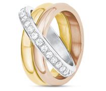 Ring aus Edelstahl mit Zirkonia