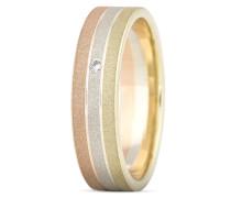 Ring aus 333 Tricolor Gold mit Diamant-50