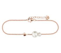 Armband Pearl Love aus rosévergoldetem 925 Sterling Silber mit Süßwasser-Zuchtperlen