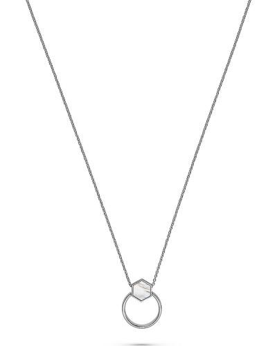 JETTE Silver Damen-Kette Lucky Charm 925er Silber 0 Perlmutt