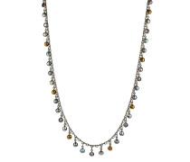 Halskette Waterfalls aus Metall mit Glassteinen