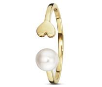 Ring Pearl Love aus vergoldetem 925 Sterling Silber mit Süßwasser-Zuchtperle-50