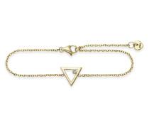 Armband Love Fine Line aus vergoldetem 925 Sterling Silber mit Zirkonia