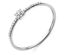 Ring aus 375 Weißgold mit 0.062 Karat Diamanten-56