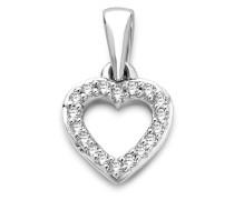 Halskette 'Herz' aus 375 Weißgold mit 0.05 Karat Diamanten